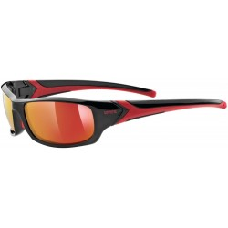 Uvex sportstyle 211 black red s3